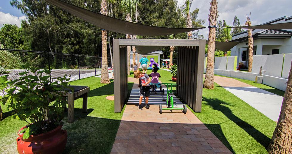 In progress photo of a Punta Gorda preschool play area