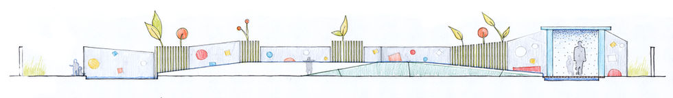 Wonderwall concept for a Punta Gorda play area