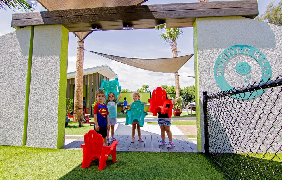 The Wonderwall in a Punta Gorda preschool play area