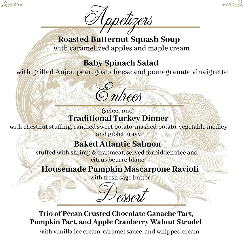 Ballroom Prix Fixe Thanksgiving Dinner