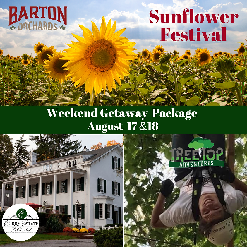 Sunflower & Adventure Weekend Getaway