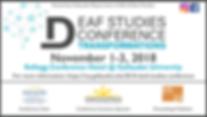 Deaf Studies Transformation Conference Bannere