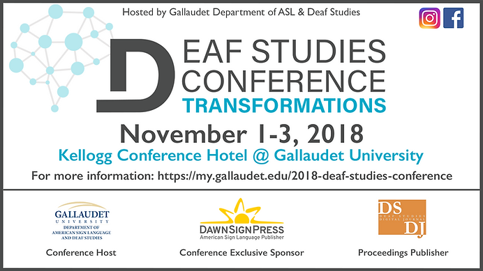 Deaf Studies Transformation Conference Bannere