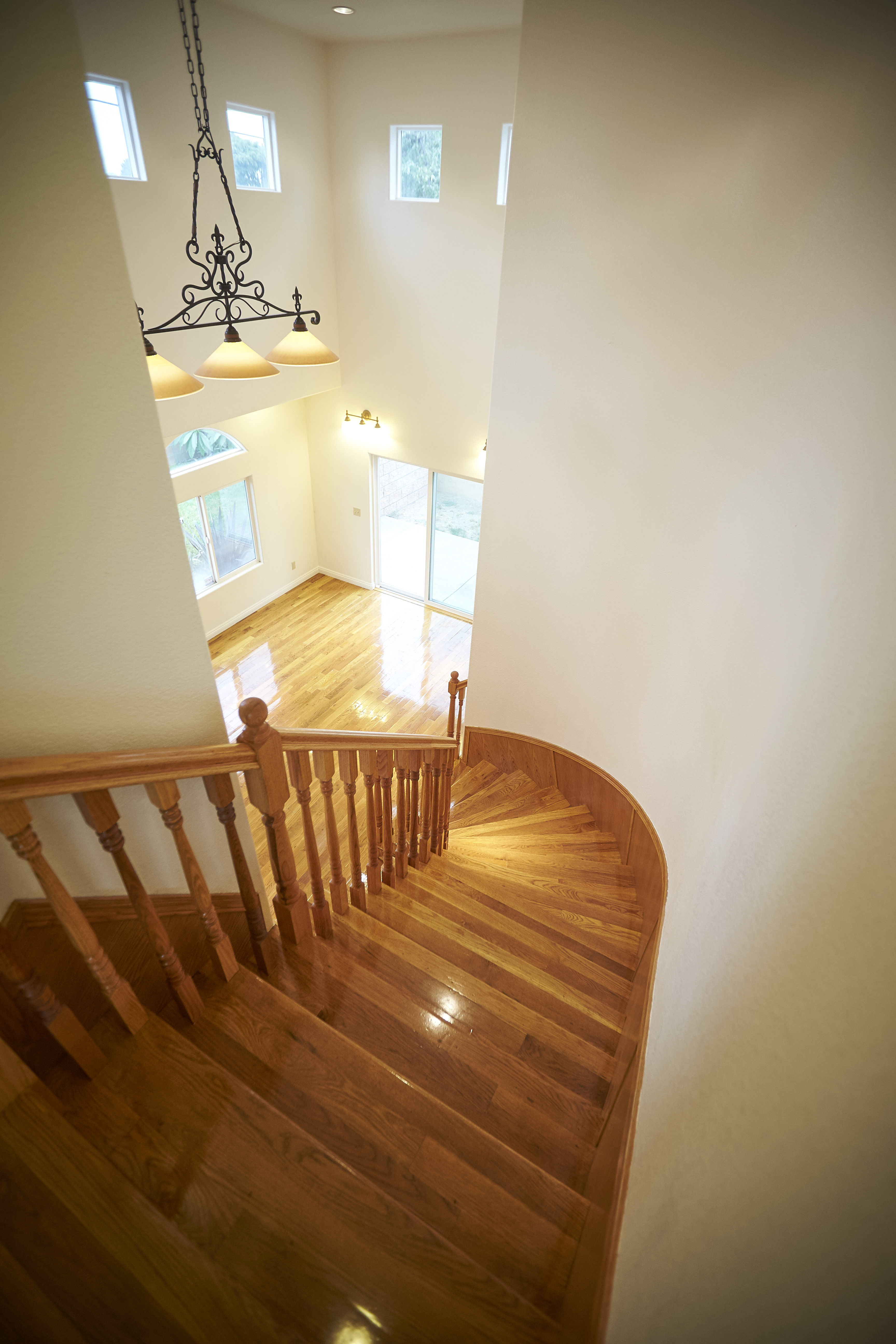 View from upstairs staircase