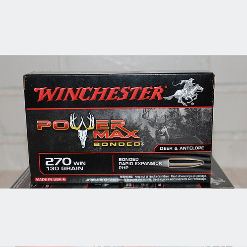 270Win Winchester 130gr Power Max Bonded 20 Rounds