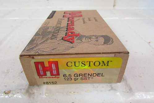 6.5 Grendel Hornady 123gr SST Box of 20