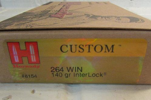 264 Win Hornady 140gr InterLock 20 Round Box