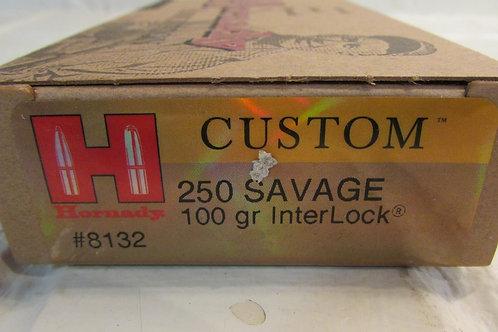 250 Savage Hornady 100gr InterLock 20 Round Box