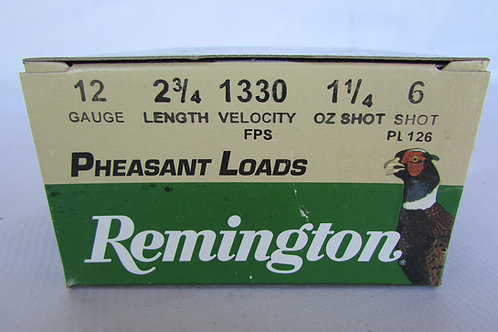 "12ga Remington Pheasant Loads 1 1/4oz 2 3/4"" 6 Shot 25 Rounds"