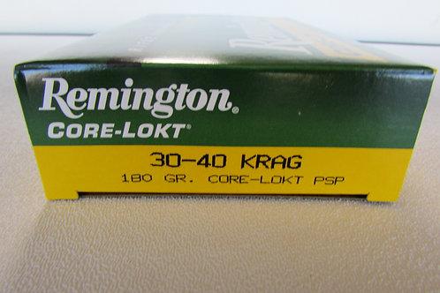 30-40 Krag Remington 180gr Core-Lokt PSP 20 Rounds