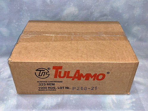 .223 Rem Tula 55gr FMJ Steel Case 1000 Round Case