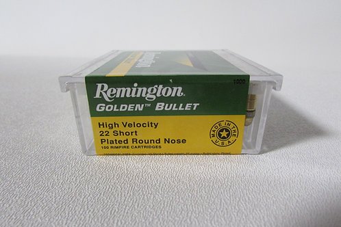 22 Short Remington Golden Bullet 29gr Plated RN 100 Round Box