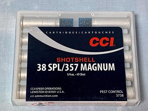 38 SPL / 357 Mag CCI 1/4oz #9 Shot 10 Rounds