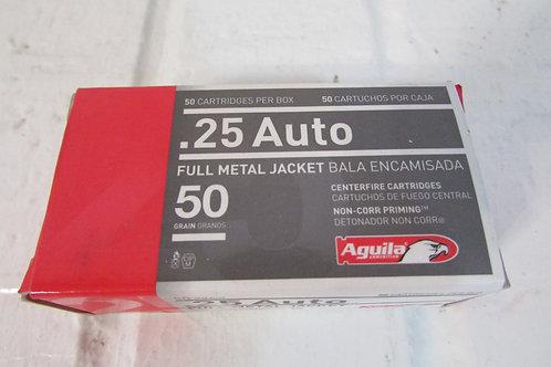 .25 AUTO FMJ  50gr.  Aguila