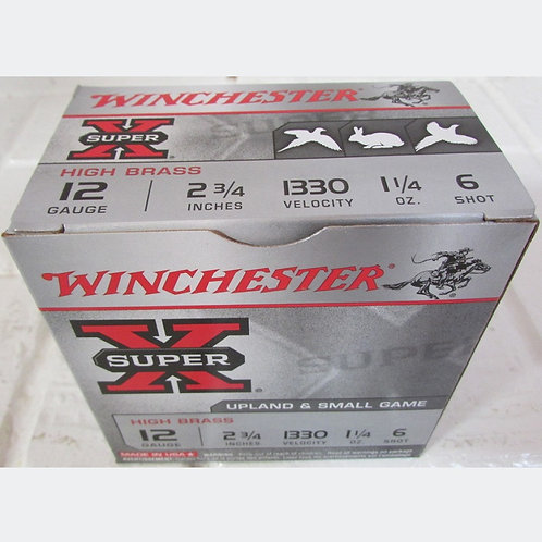 "12ga 2-3/4"" Winchester #6 Shot 1-1/4oz  25 Rnd Box"