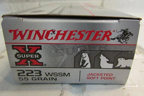 223 WSSM Winchester 55gr JSP Super-X 20 Round Box