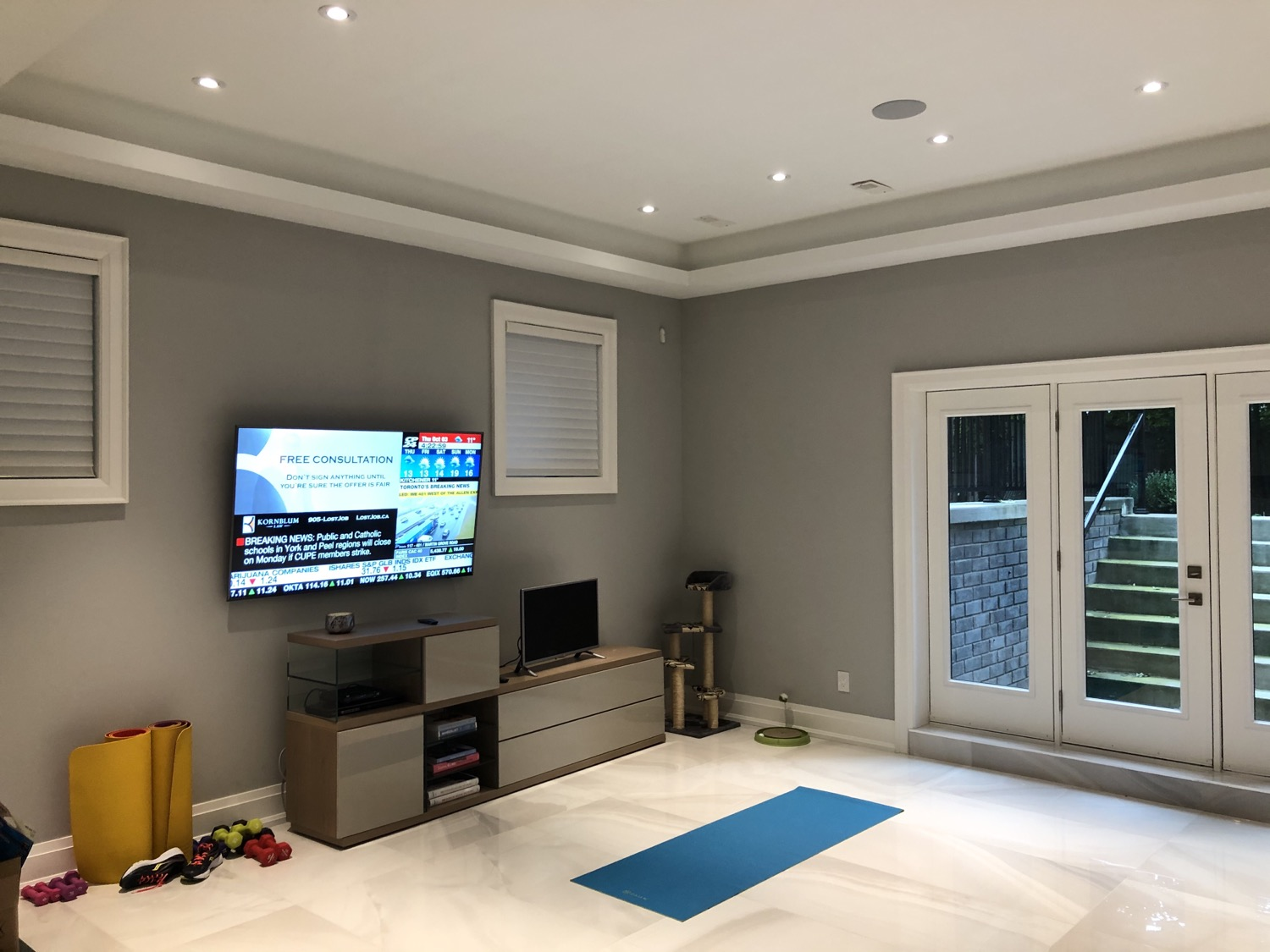 "Basement Gym Samsung 65"" 4K TV"