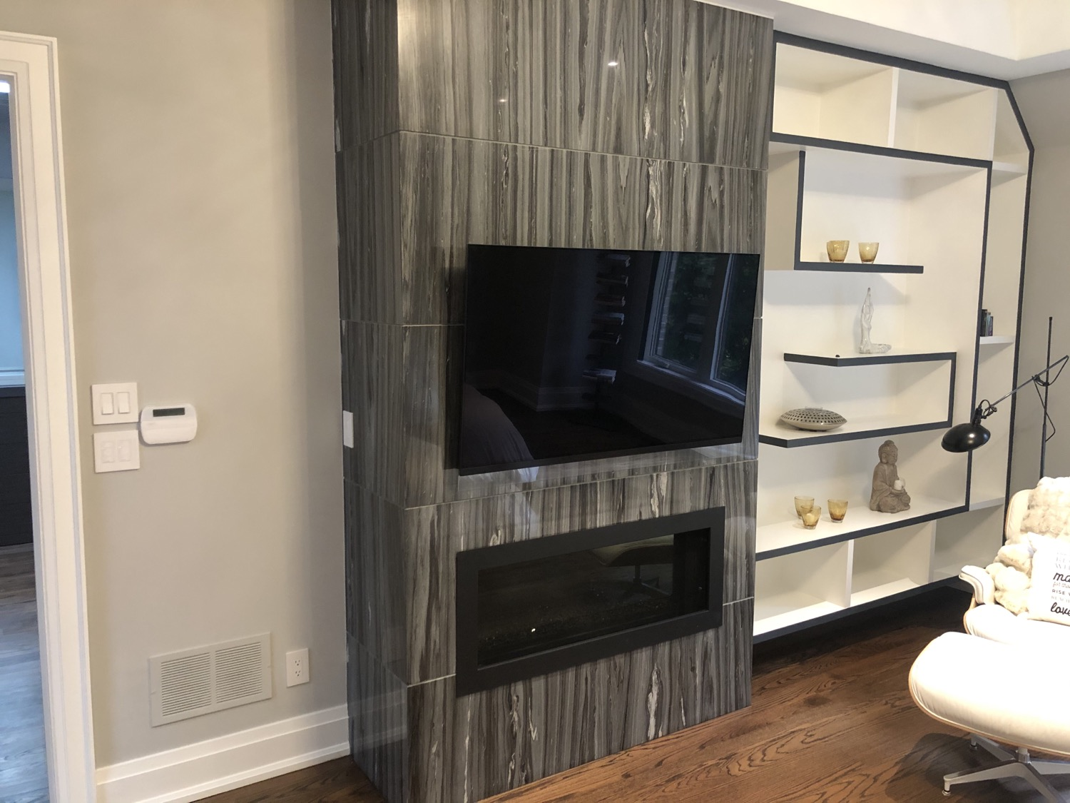 Tile Fireplace TV Wall Mounting