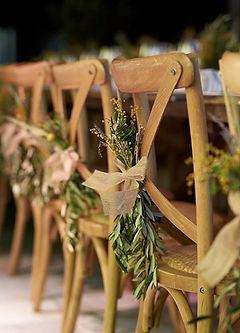 Decoración boda Silla