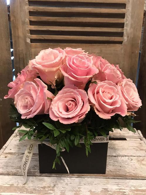 Caja de Rosas Color Rosa