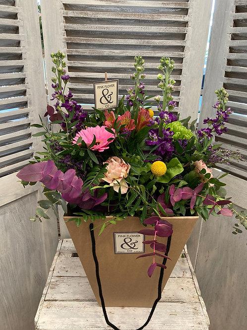 Flores en Bolsa Kraft
