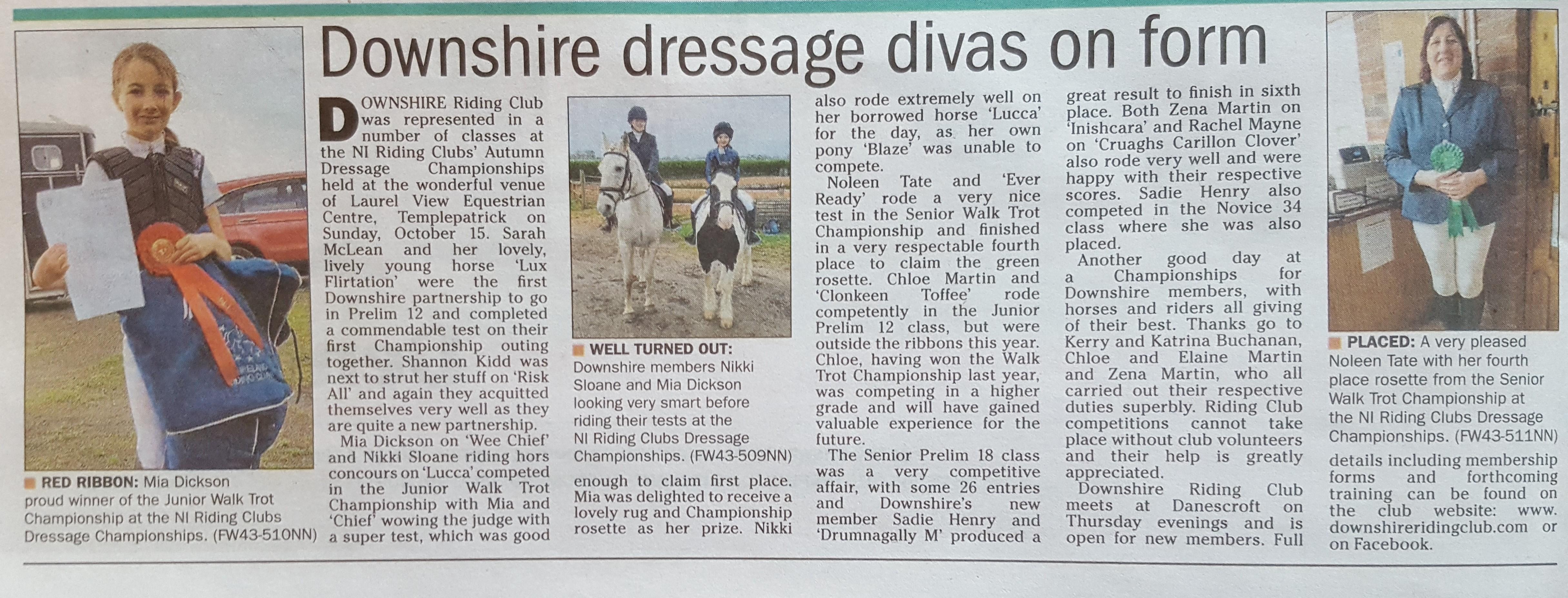 Downshire Dressage Divas