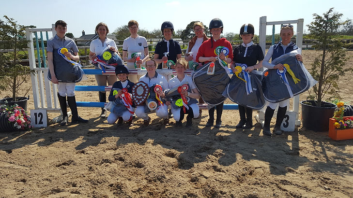 Downshire Riding Club members at the Interclubs Finals. A very successful day for our teams!