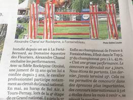 """Article dans le Maine Libre """"Alexandre enchaîne les podiums"""""""