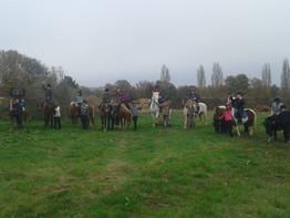 Les délégués du collège du Theil / Huisne en découverte de l'Equitation