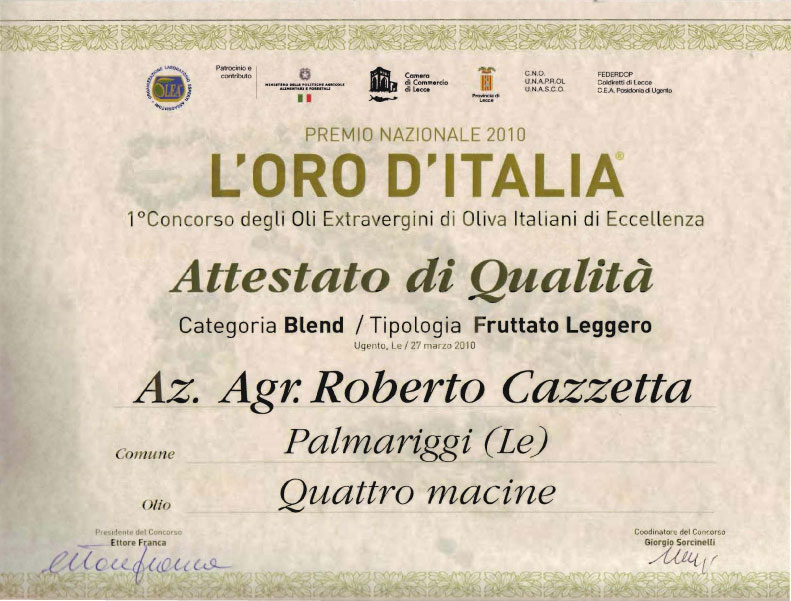 L'ORO D'ITALIA