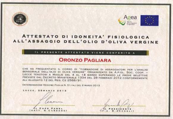ASSAGGIO DELL'OLIO D'OLIVA