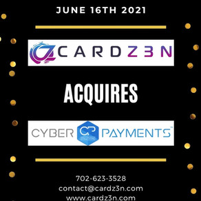 Card Z3N, LLC. Acquires CyberPayments Solutions, LLC.