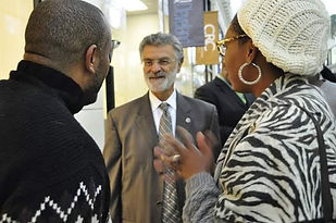 Betsy with Mayor Jackson