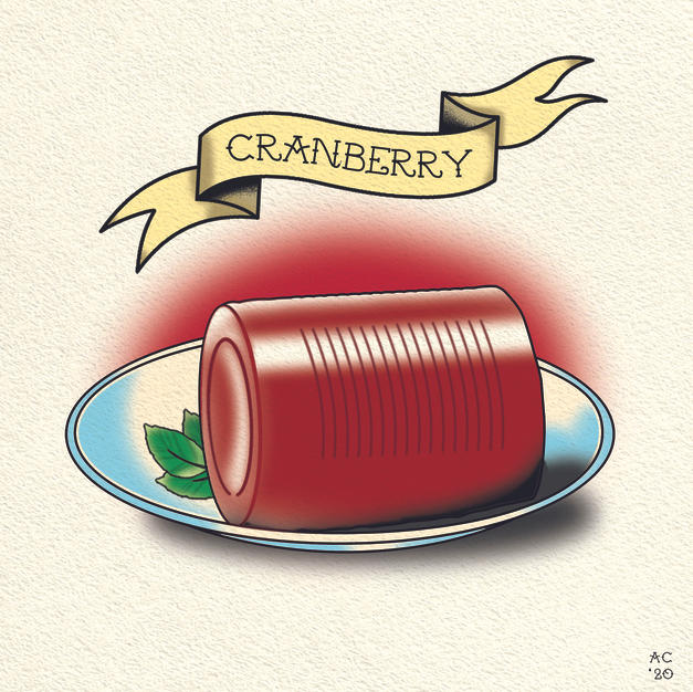 Cranberry Sauce - Flash Tattoo Design