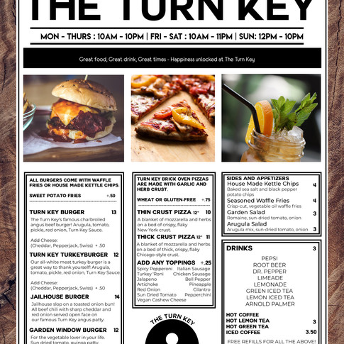 Turn Key Menu Mockup
