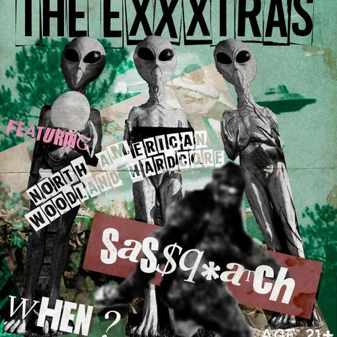 The EXXXTRAS Live Punk Show Poster
