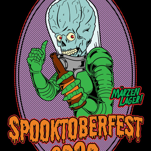 Spooktoberfest 2020 Beer Label