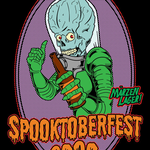 Spooktoberfest 2020 Beer Label