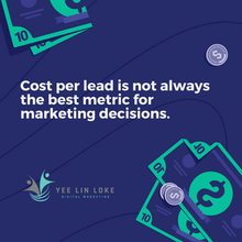Cost per lead is not always the best metric for making marketing decisions