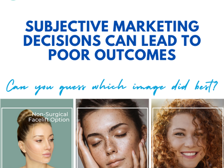 Subjective marketing decisions can lead to poor outcomes