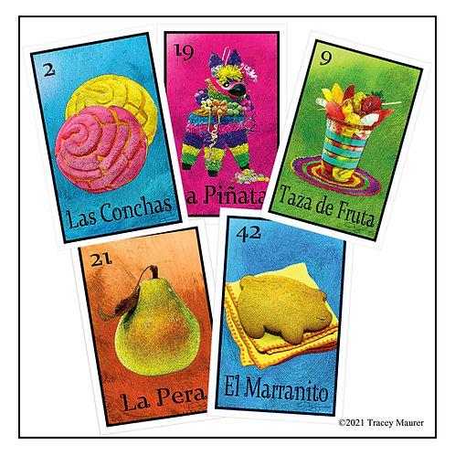 Lotería de Comida - Postcard set 2