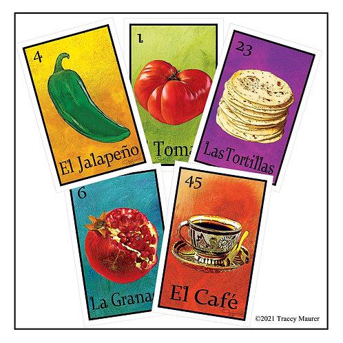 Lotería de Comida - Postcard set 1