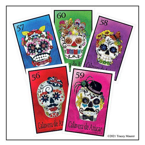 Calavera de Azucar Postcards ( 5 postcards in set )