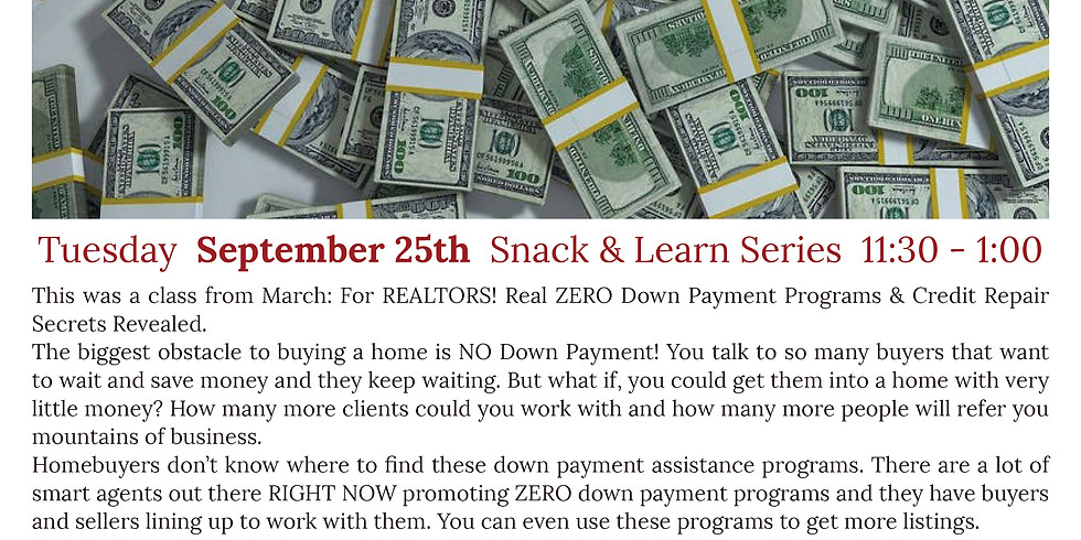 REALTORS, Learn About ZERO Down Payment Programs for Your Clients