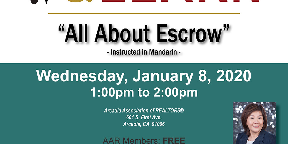 AAR Lunch & Learn_All About Escrow