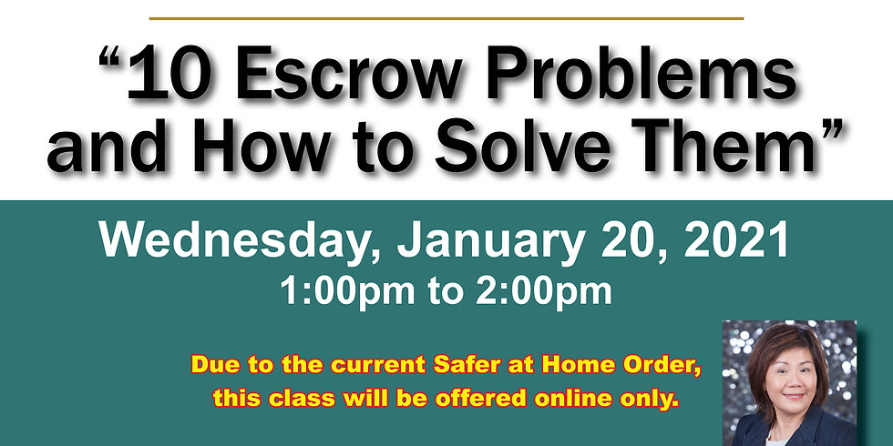 AAR Lunch & Learn_10 Escrow Problems and How to Solve Them