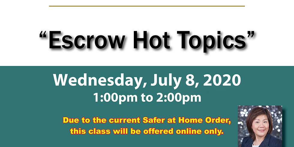AAR Lunch & Learn_Escrow Hot Topics
