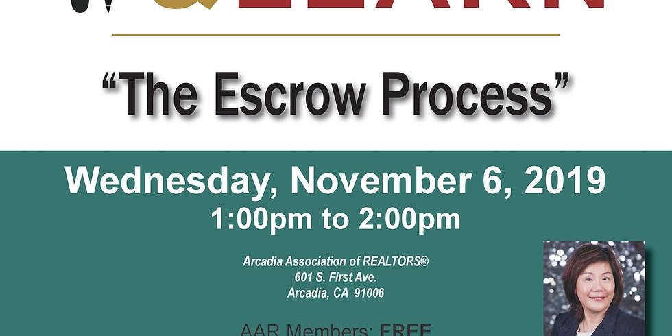 AAR - Lunch & Learn - Escrow Process