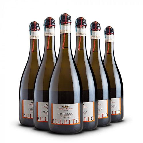Pulpito - Prosecco Doc. Treviso Frizzante bottiglie 6 x 75 cl