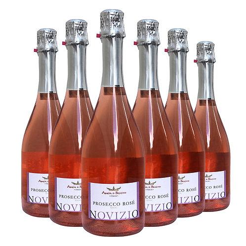Prosecco Rosè Novizio extra dry bottiglie 6 x 75 cl